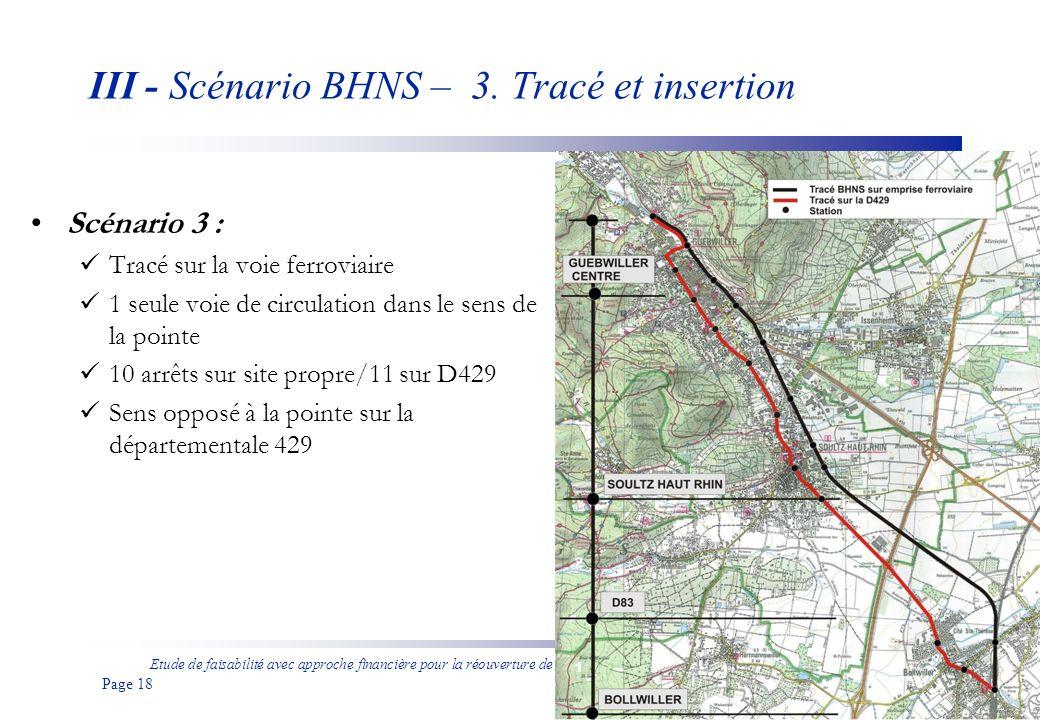 III - Scénario BHNS – 3. Tracé et insertion