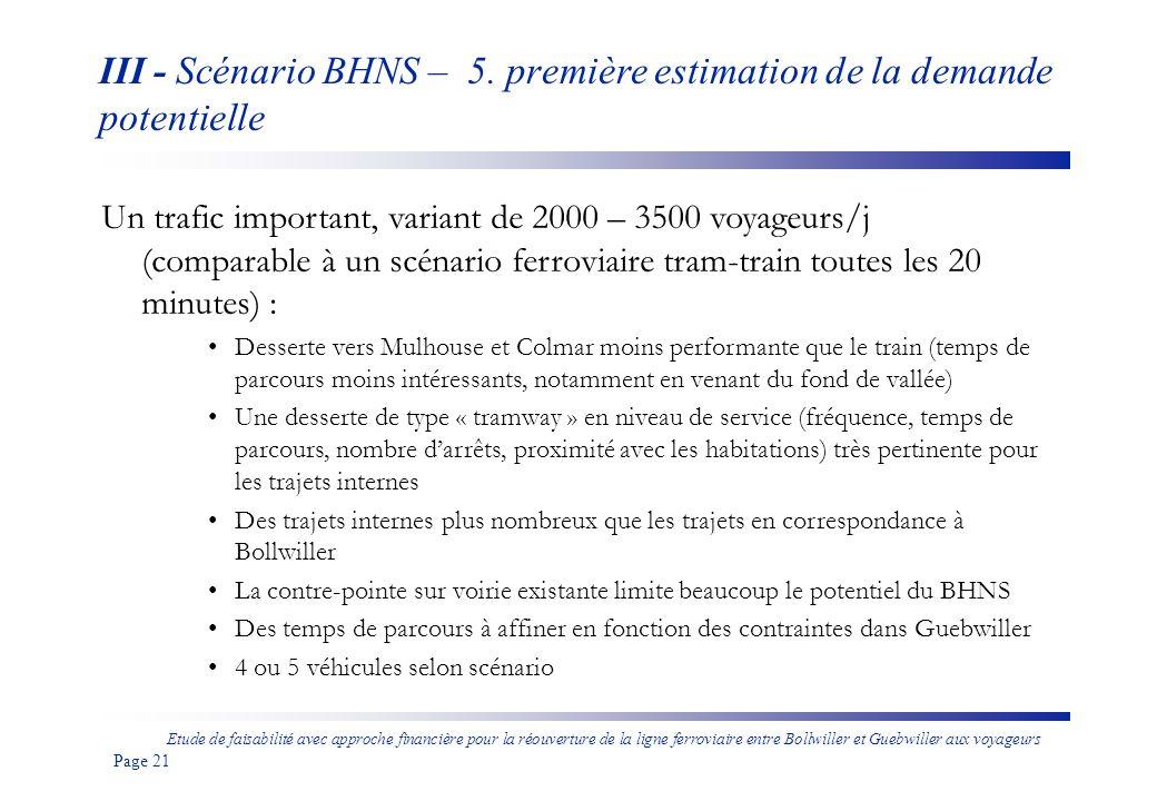 III - Scénario BHNS – 5. première estimation de la demande potentielle