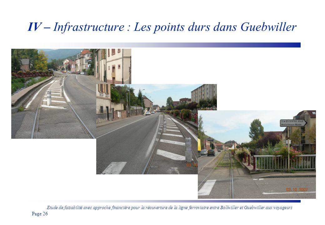 IV – Infrastructure : Les points durs dans Guebwiller