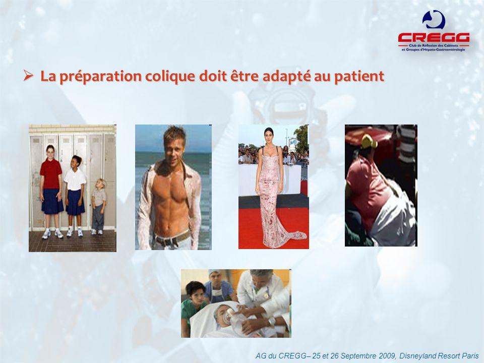 La préparation colique doit être adapté au patient