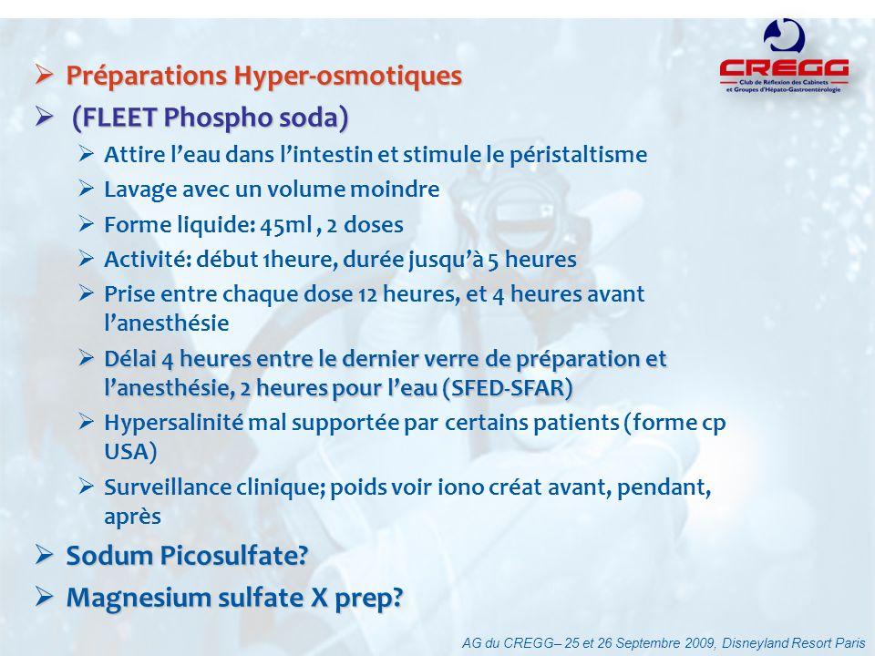 Préparations Hyper-osmotiques (FLEET Phospho soda)