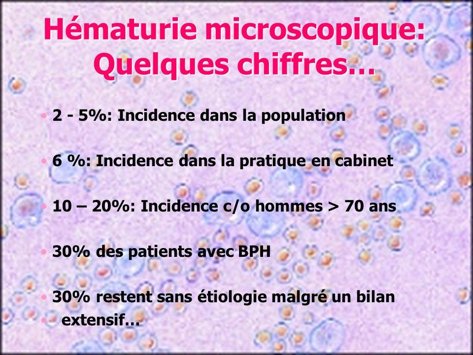 Hématurie microscopique: Quelques chiffres…