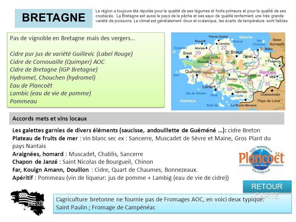 BRETAGNE RETOUR CARTE Pas de vignoble en Bretagne mais des vergers…