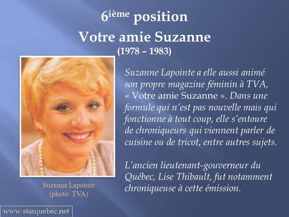 6ième position Votre amie Suzanne