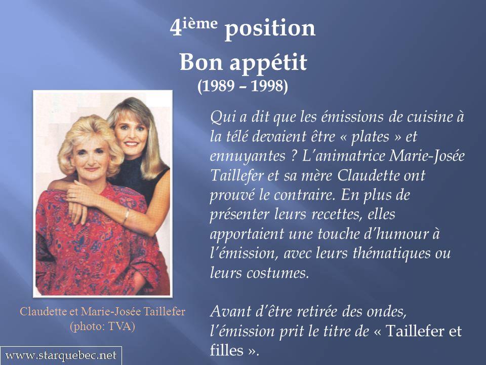 Claudette et Marie-Josée Taillefer
