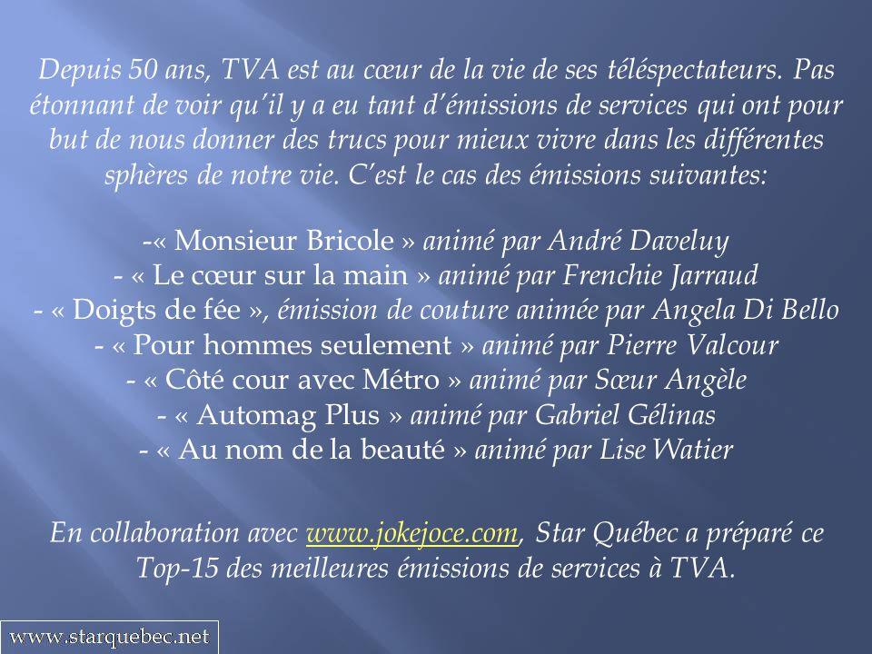 « Monsieur Bricole » animé par André Daveluy