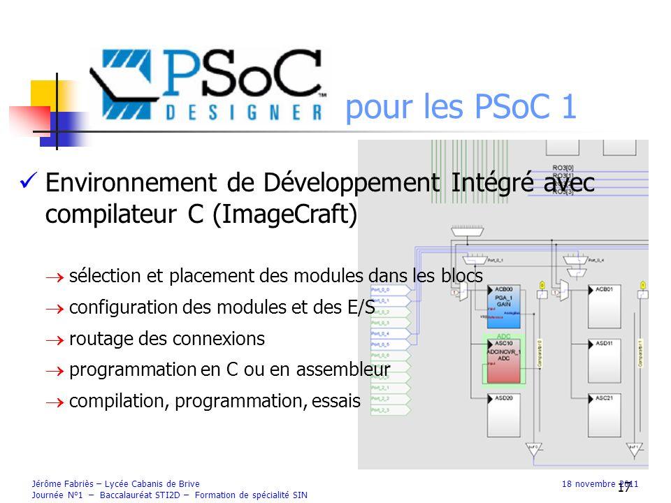 Psoc Designer pour les PSoC 1