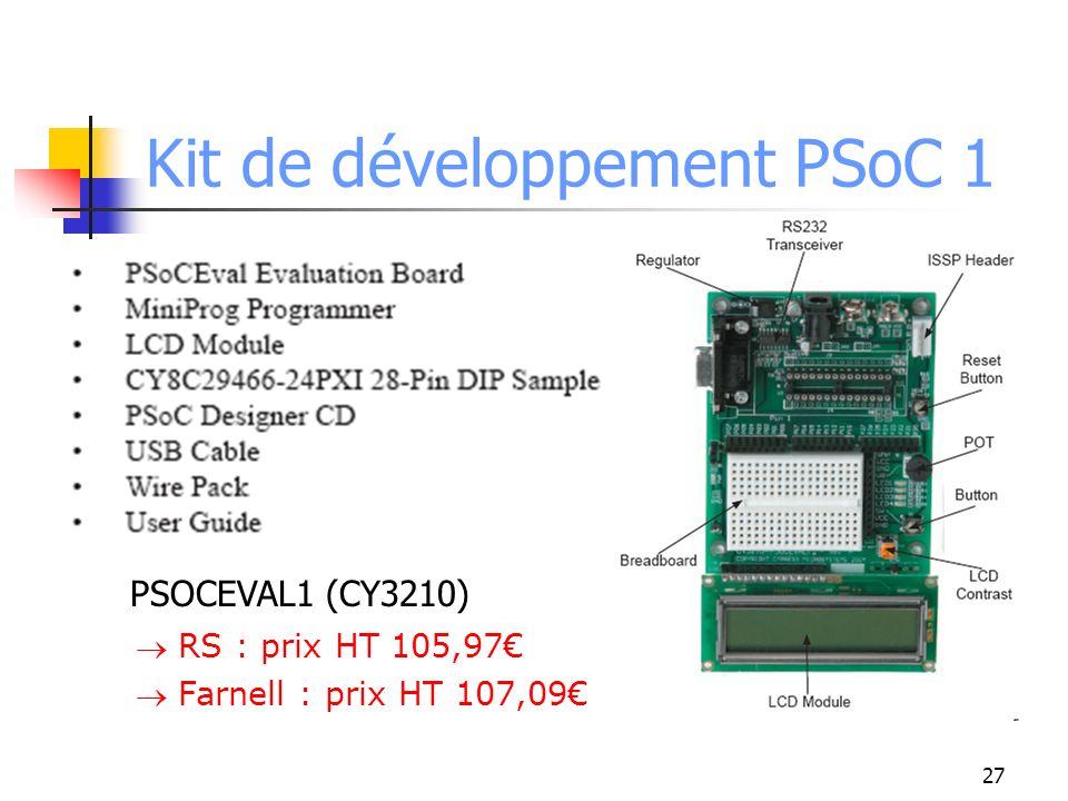 Kit de développement PSoC 1