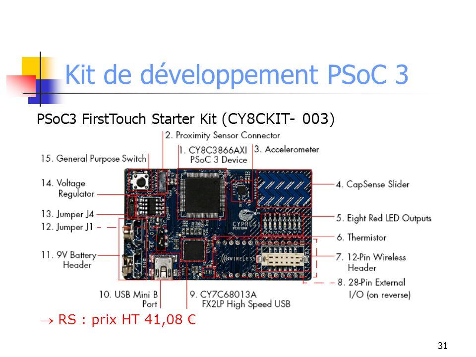 Kit de développement PSoC 3