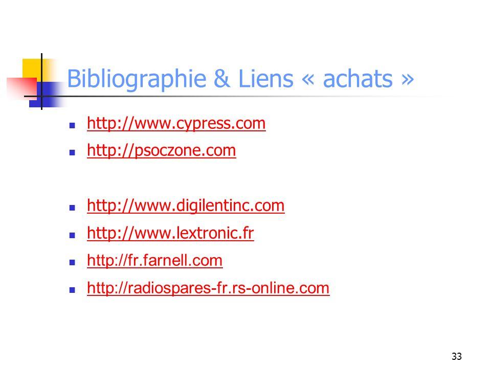 Bibliographie & Liens « achats »