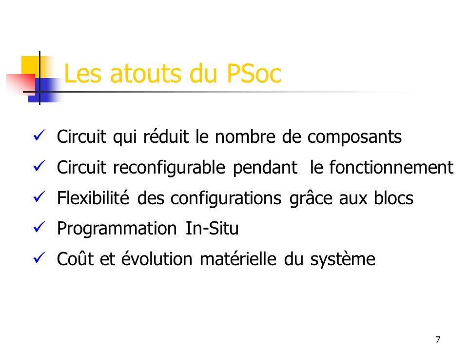 Les atouts du PSoc Circuit qui réduit le nombre de composants