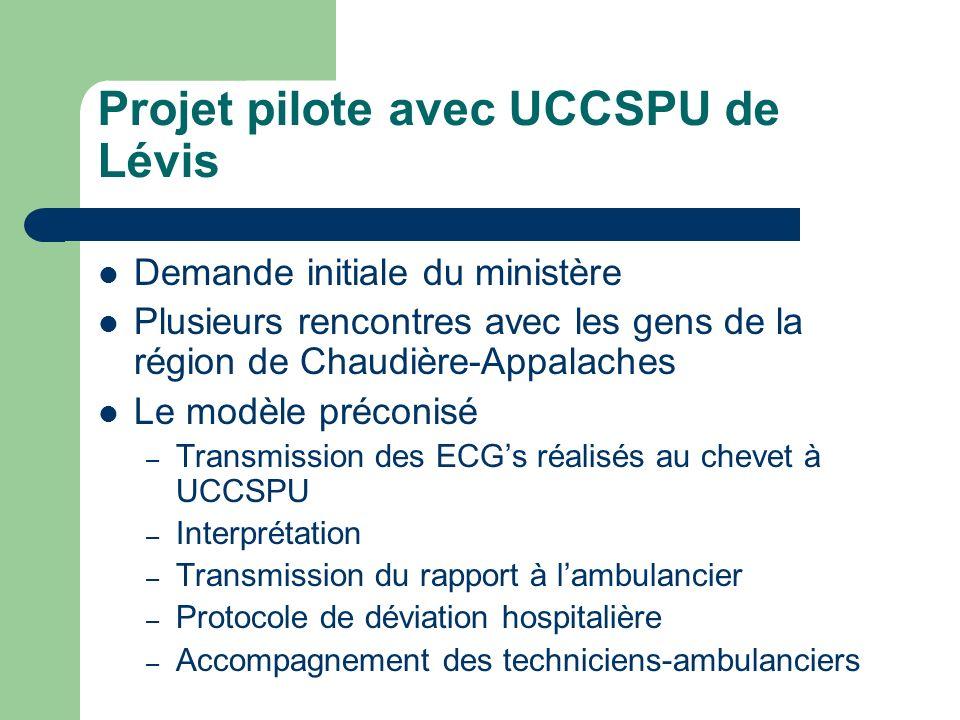 Projet pilote avec UCCSPU de Lévis