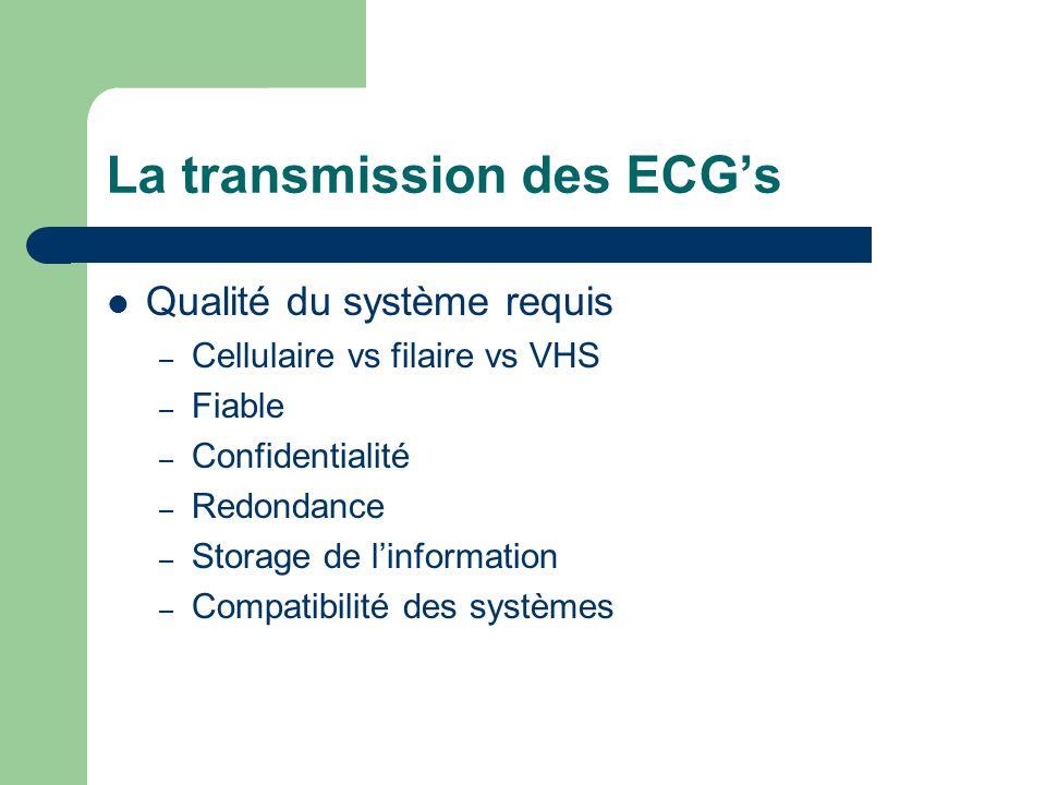 La transmission des ECG's