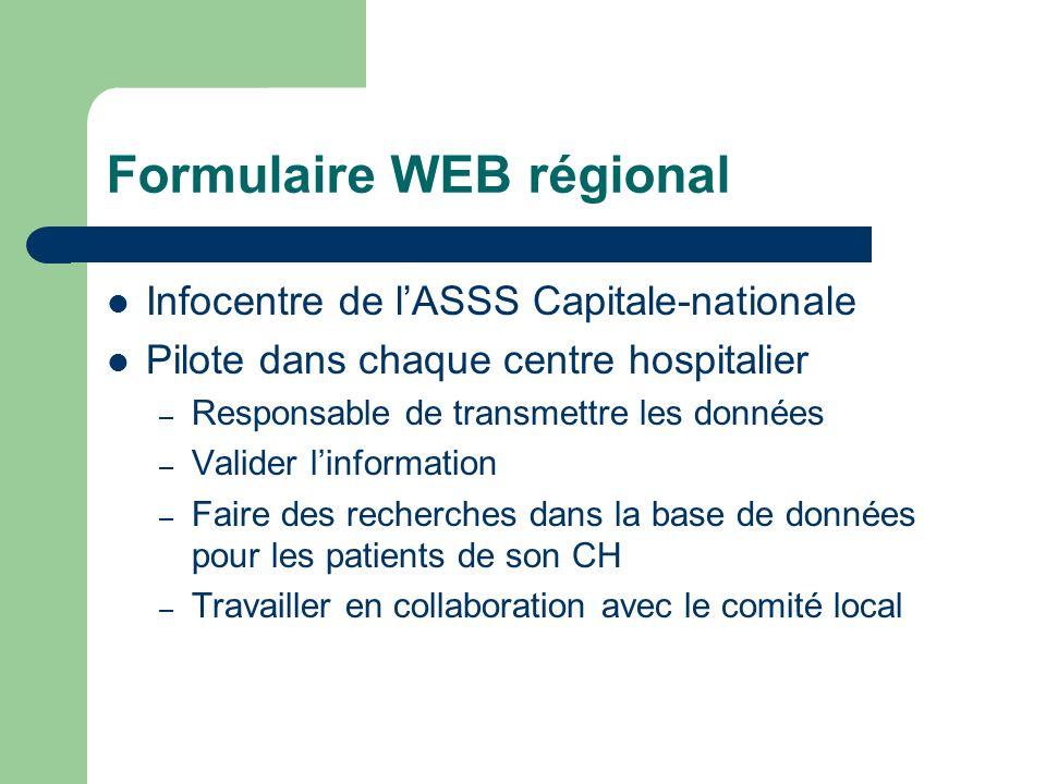 Formulaire WEB régional