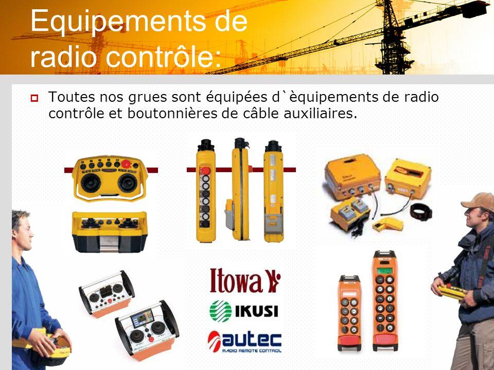 Equipements de radio contrôle: