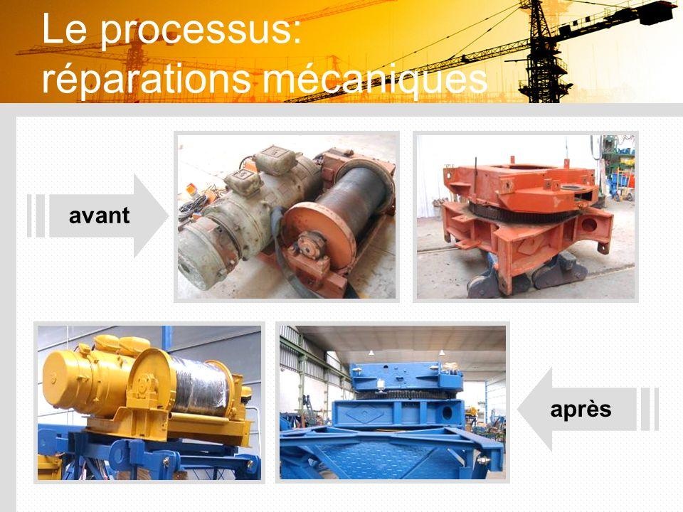 Le processus: réparations mécaniques