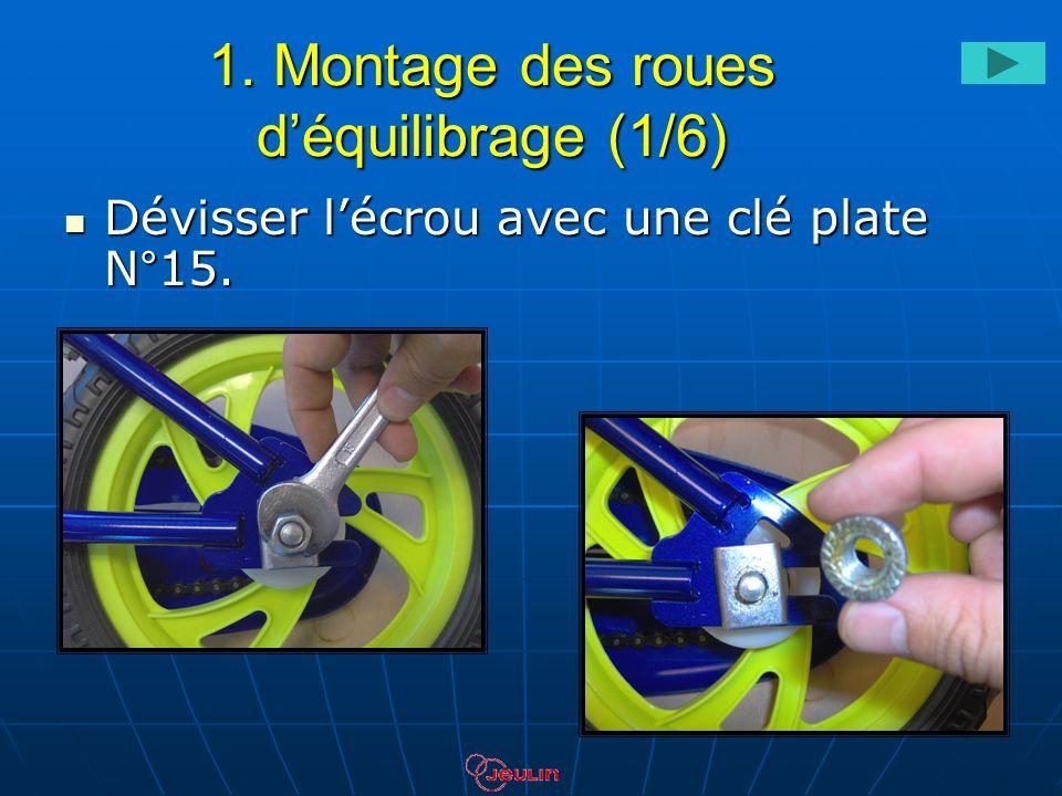 1. Montage des roues d'équilibrage (1/6)