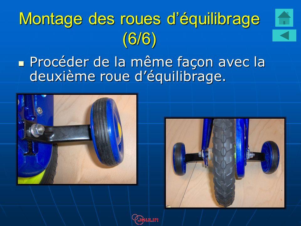 Montage des roues d'équilibrage (6/6)