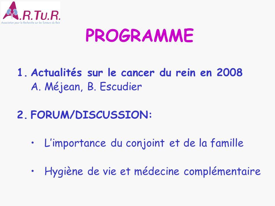 PROGRAMME Actualités sur le cancer du rein en 2008