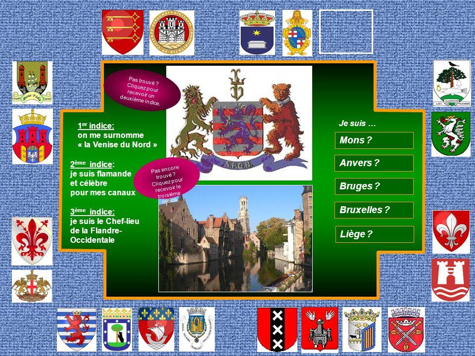 Mons Anvers Bruges Bruxelles Liège Je suis …