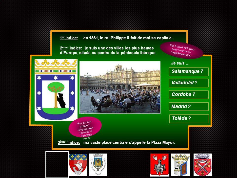 Salamanque Valladolid Cordoba Madrid Tolède