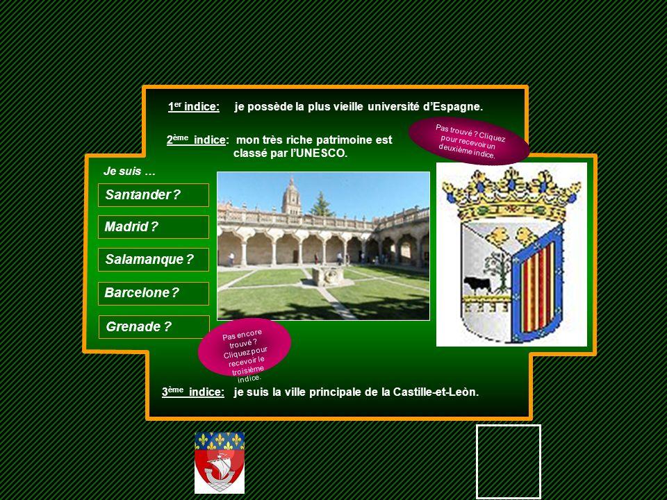 Santander Madrid Salamanque Barcelone Grenade