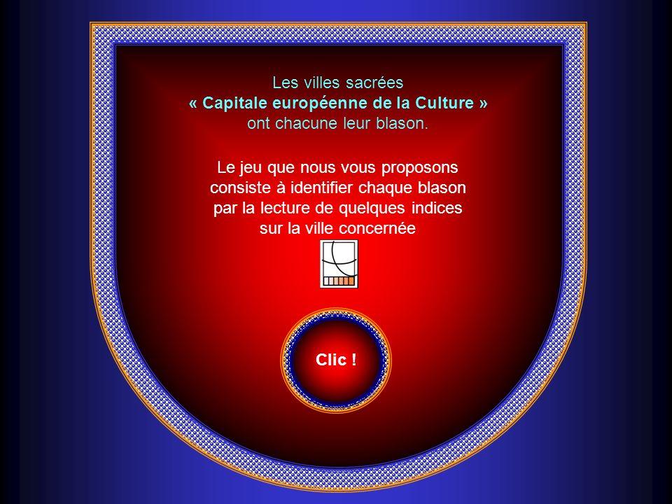 Les villes sacrées « Capitale européenne de la Culture » ont chacune leur blason.