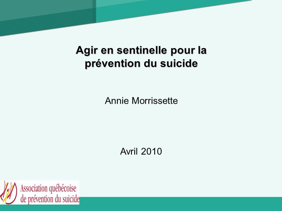 Agir en sentinelle pour la prévention du suicide