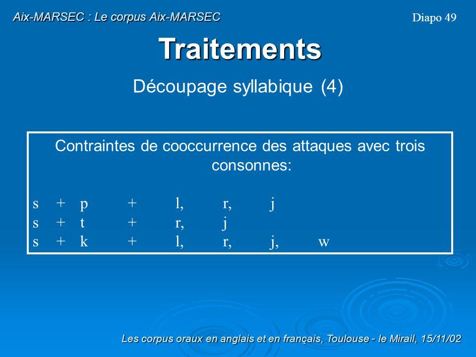 Traitements Découpage syllabique (4)