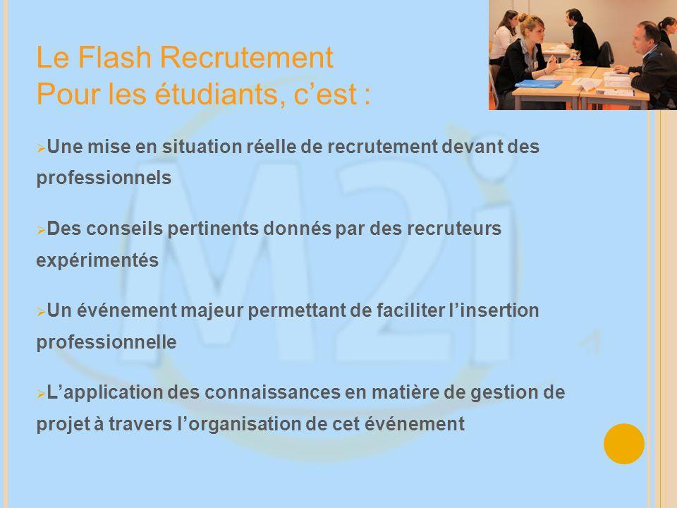 Le Flash Recrutement Pour les étudiants, c'est :