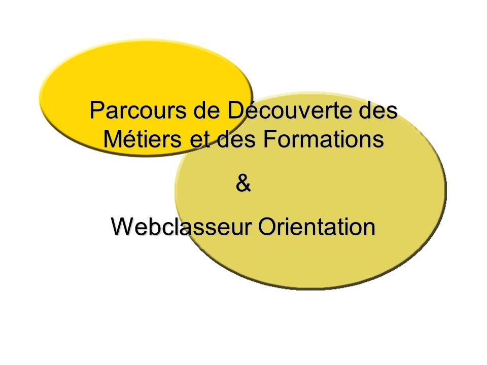 Parcours de Découverte des Métiers et des Formations &