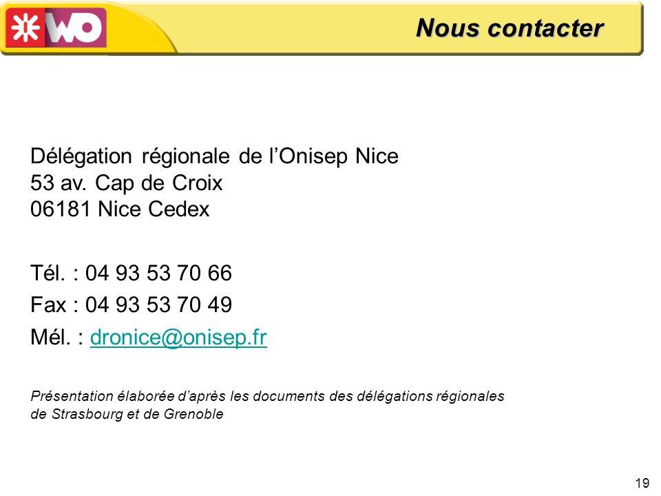 Nous contacter Délégation régionale de l'Onisep Nice