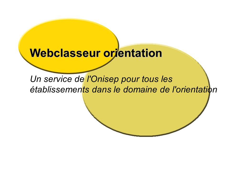 Webclasseur orientation