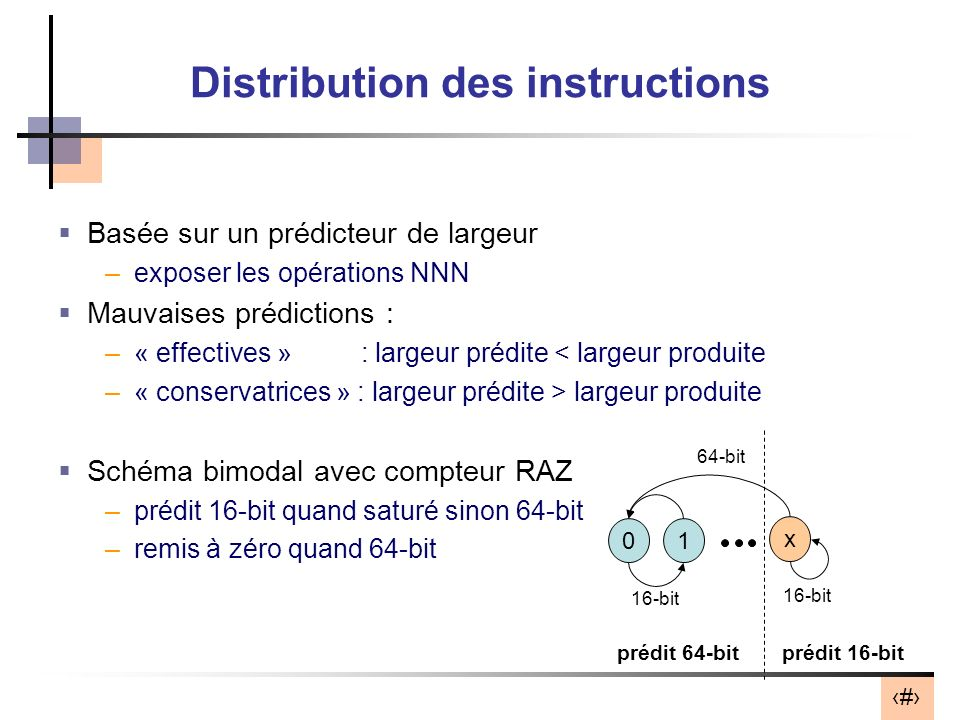 Distribution des instructions