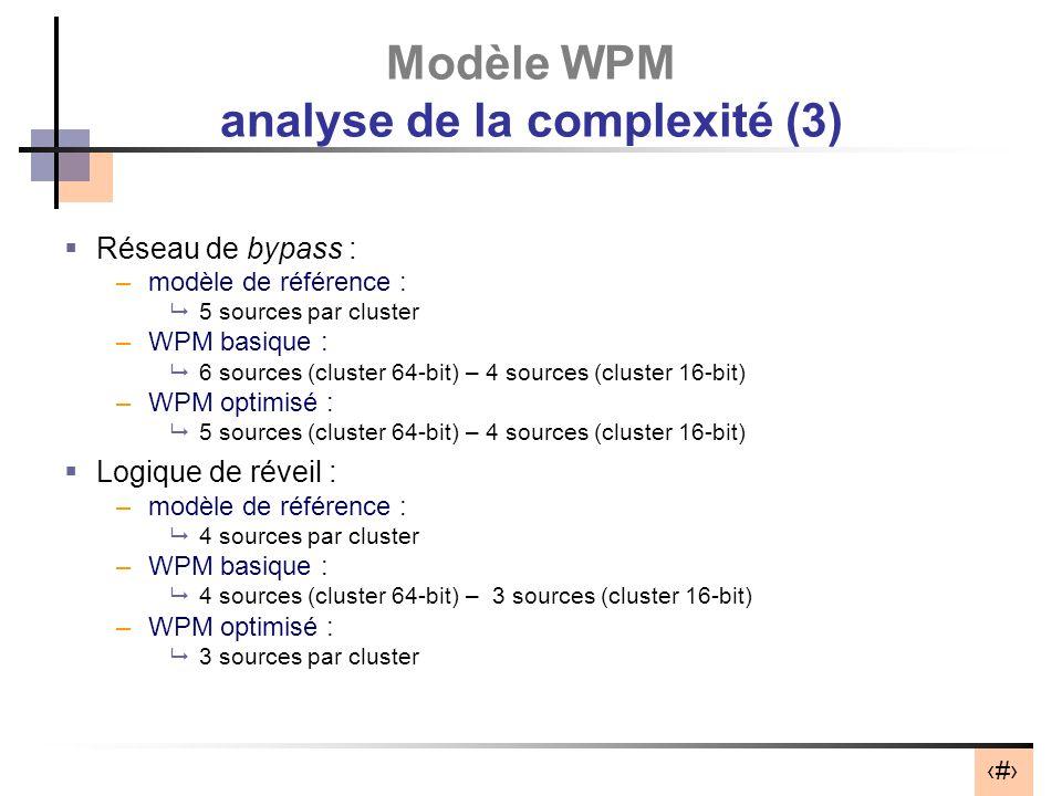 Modèle WPM analyse de la complexité (3)