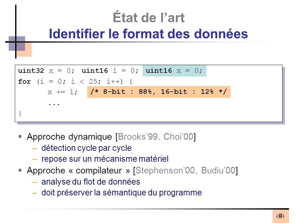 État de l'art Identifier le format des données