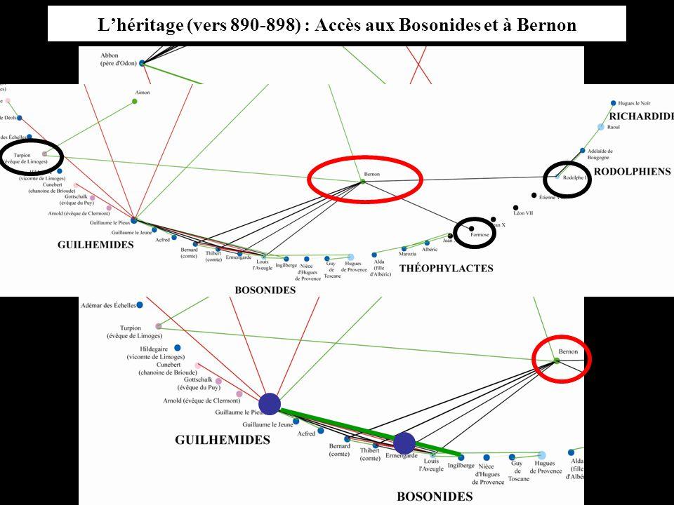 L'héritage (vers 890-898) : Accès aux Bosonides et à Bernon