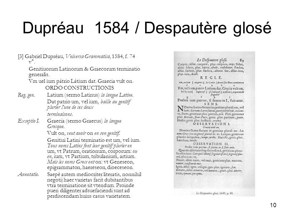 Dupréau 1584 / Despautère glosé