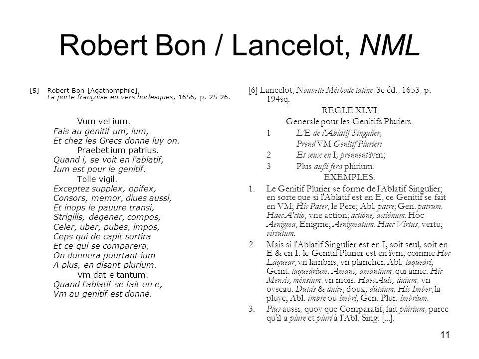 Robert Bon / Lancelot, NML