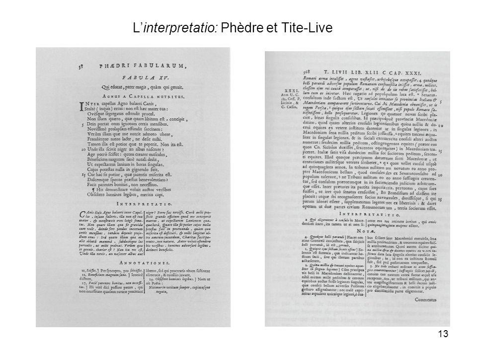 L'interpretatio: Phèdre et Tite-Live