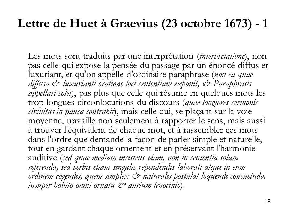 Lettre de Huet à Graevius (23 octobre 1673) - 1