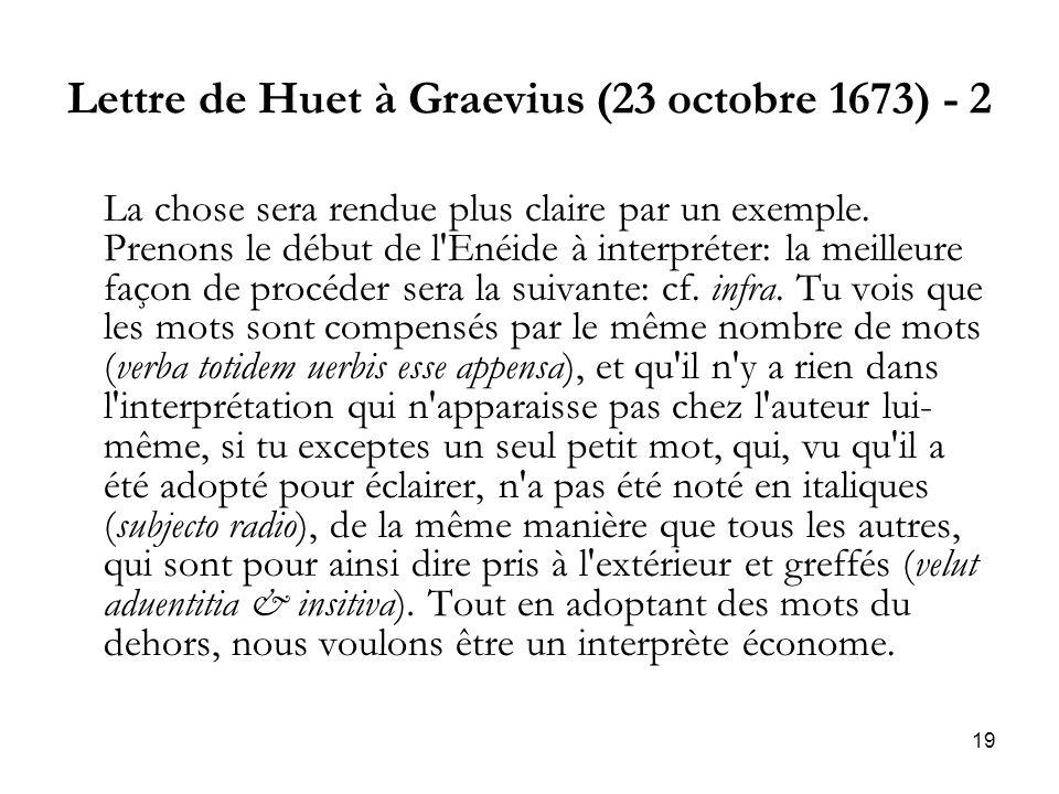 Lettre de Huet à Graevius (23 octobre 1673) - 2
