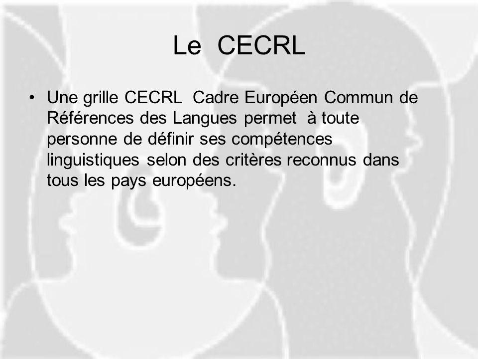 Le CECRL