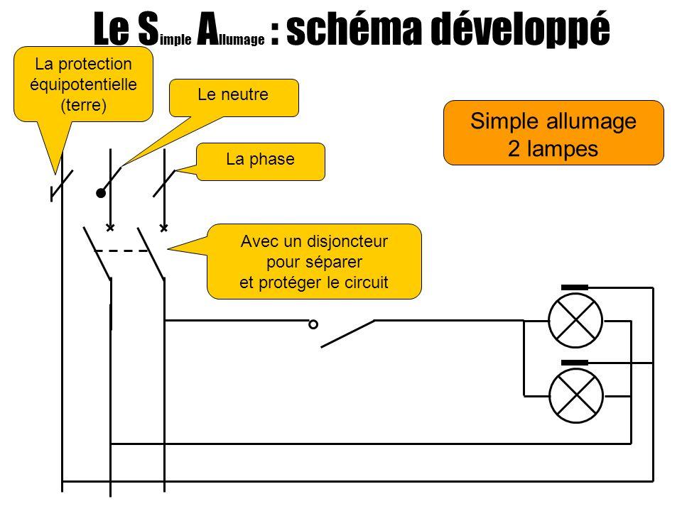 Le Simple Allumage : schéma développé