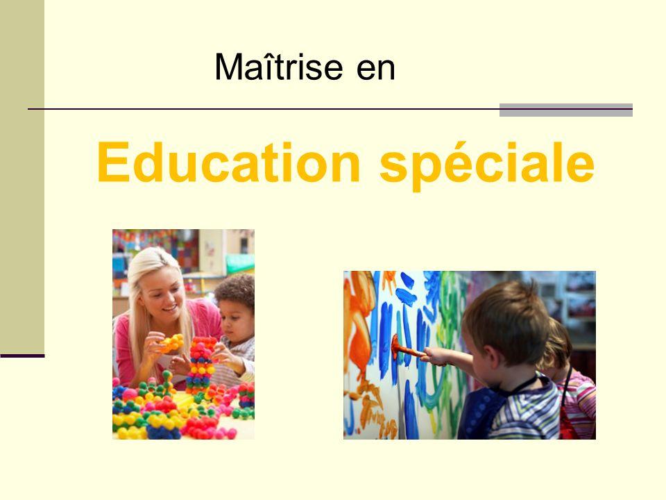 Maîtrise en Education spéciale
