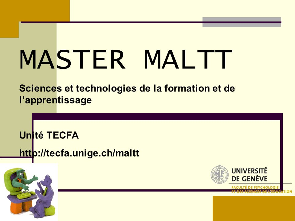 MASTER MALTT Sciences et technologies de la formation et de l'apprentissage.