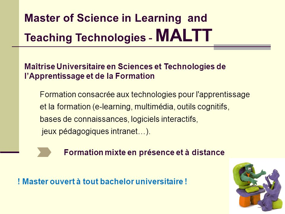Master of Science in Learning and Teaching Technologies - MALTT
