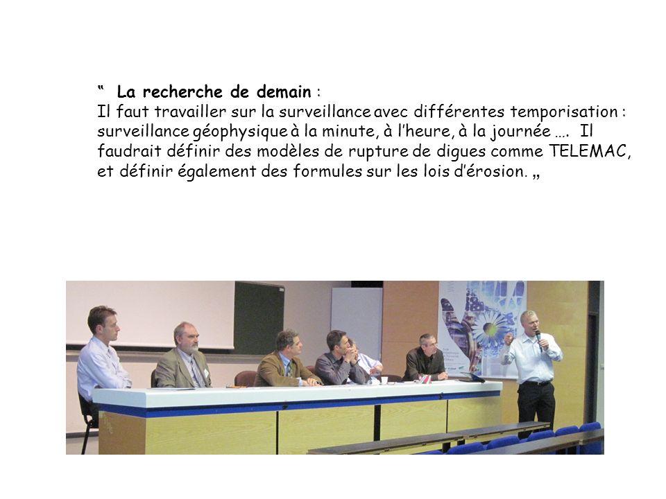 """ La recherche de demain :"