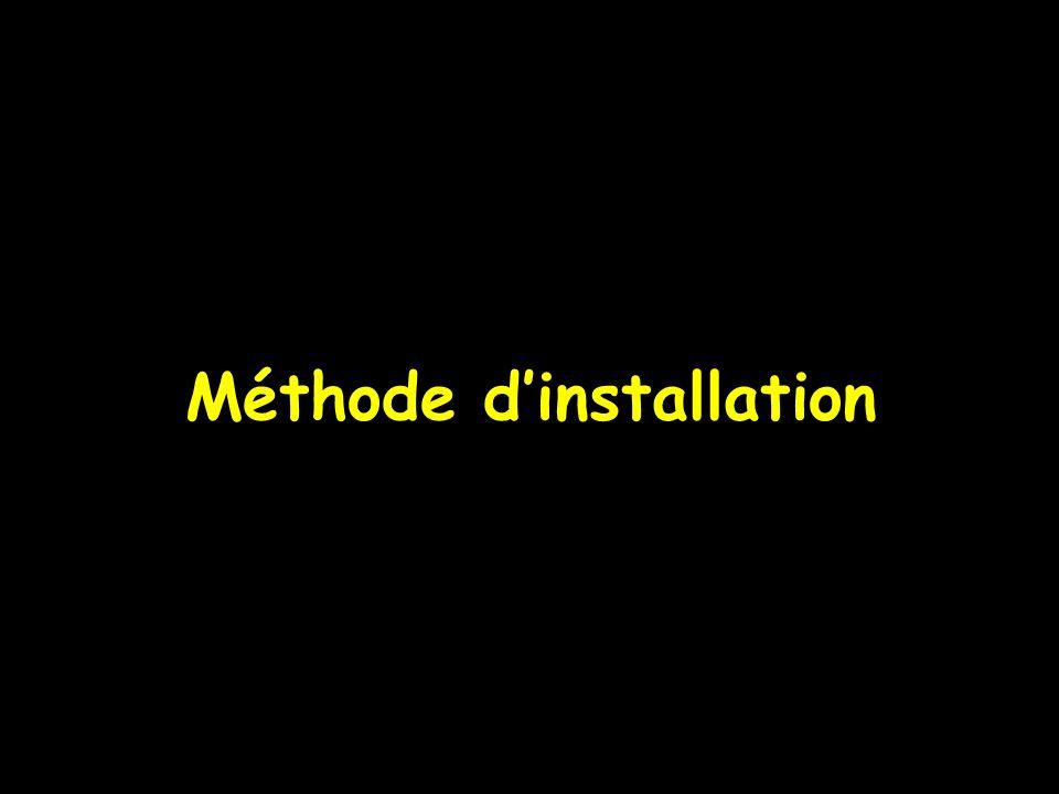 Méthode d'installation