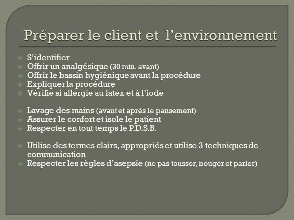 Préparer le client et l'environnement